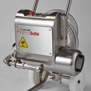 the PharmaSafe dust extraction device