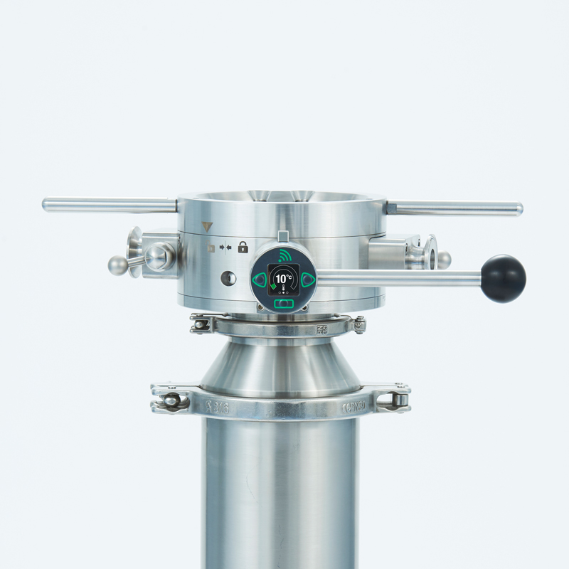 containment split butterfly valve with smart monitoring hub
